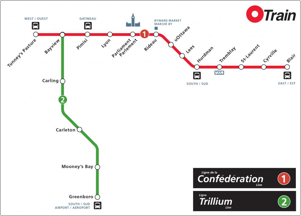 Ottawa Lrt Map How to use Ottawa's light rail transit in 2019 · OttawaStart.com