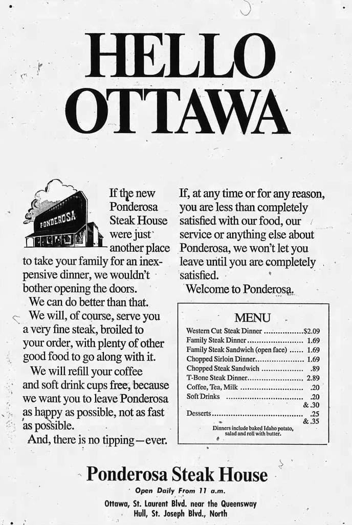 Christopher Ryan Ponderosa Ottawas Steakhouse Bonanza