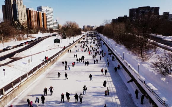 Skating on the Rideau Canal. Photo by Glen Gower.