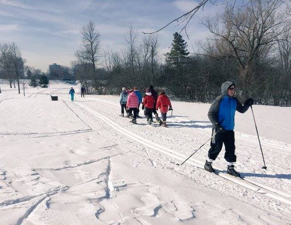 The Sir John A. Macdonald pathway during a pilot project that saw a trail groomed for two weeks. (Via Dovercourt Recreation Association)