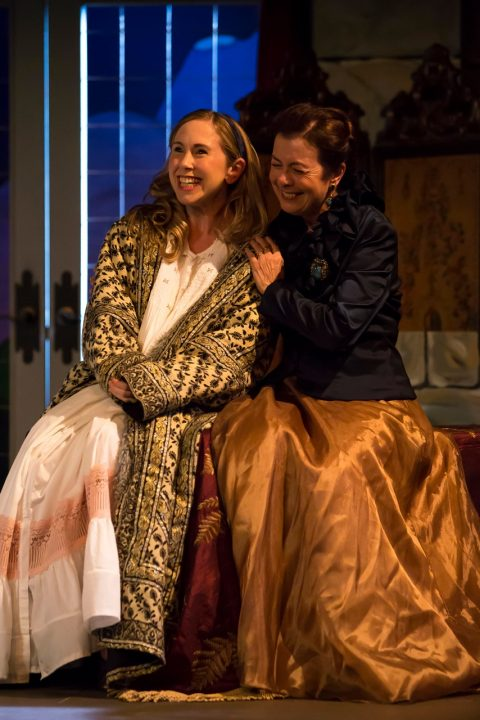 The Capital Critics Circle awarded its Best Actress Award to Lana Sugarman (shown here with Catherine Bruce in the 2016 Classic Theatre Festival production of Arms and the Man). Photo: Jean-Denis Labelle