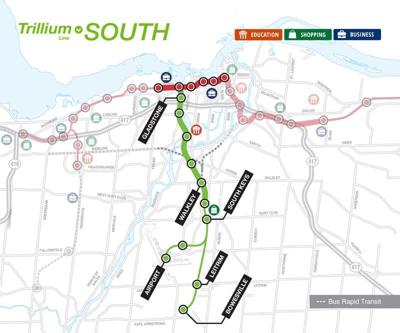 Ottawa Subway Map.How To Use Ottawa S Light Rail Transit In 2019 Ottawastart Com