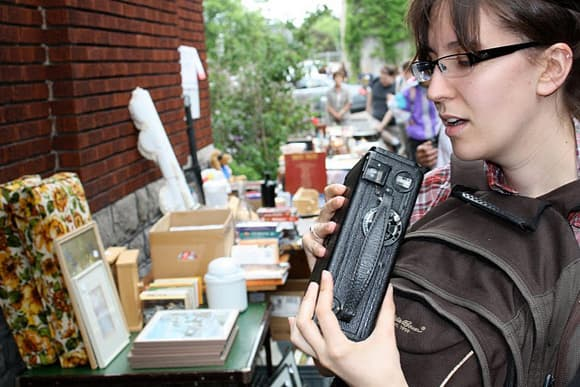 Bargain hunting at the Great Glebe Garage Sale. Photo by Chris Saunders.